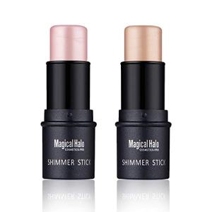 2pcs Highlight Stick Shimmer Cream Powder Foundation Highlighter Stick Waterproof Highlighter for Face Makeup Skin Care
