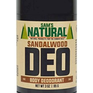Sam's Natural Deodorant - Aluminum Free - No phthalates, parabens, sulfates, or dyes - Made in New Hampshire - For Men, Women, Unisex - Vegan, Cruelty Free - 3 oz - Sandalwood