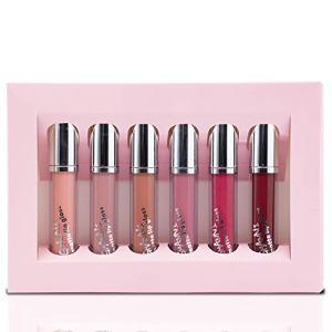 Matte Liquid Lipstick set, 6 PCS Velvety Lip Gloss Kit, Non-stick Cup Waterproof Long Lasting, Nude Lip Gloss Beauty Cosmetics Set, AirroYE