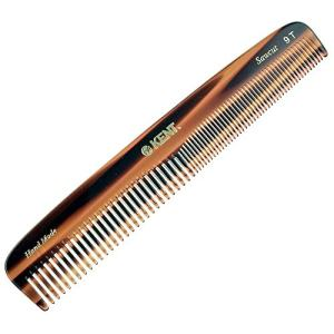 "Kent 9T Pocket Comb - Hair Straightener - Wide Tooth/Fine Tooth Comb for Hair Care - Beard Straightener Comb - Detangling Comb and Straightening Comb (7 1/2"")"