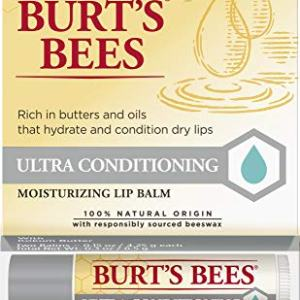 Burt's Bees 100% Natural Moisturizing Lip Balm, Ultra Conditioning with Kokum Butter, Shea Butter & Cocoa Butter - 2 Tubes