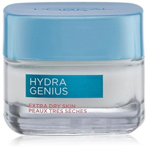 L'Oreal Paris Skincare Hydra Genius Daily Liquid Care Face Moisturizer for Extra Dry Skin with Aloe Water and Hyaluronic 1.7 oz.