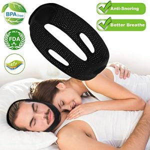 Anti Snoring Chin Straps, Anti Snoring Devices, Ajustable Stop Snoring Solution Snore Reduction Sleep Aids, Snore Stopper Chin Straps Snore Relief for Men Women Snoring Sleeping Mouth Breather