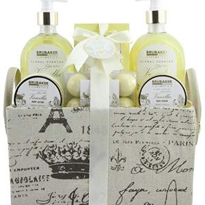 BRUBAKER Cosmetics Luxury Bath & Body Gift Set - Vanilla Rose Mint - 12 Pcs Spa Gift Set for Women and Men