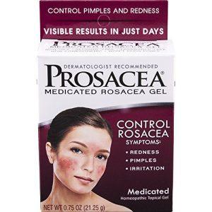 Prosacea Medicated Rosacea Gel – Controls Rosacea Symptoms of Redness, Pimples & Irritation - 0.75 Oz