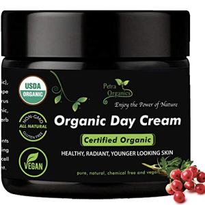 Luxury USDA Certified Organic Anti Aging Face Cream - Natural & Organic Face Moisturizer for All Skin Types, Including Sensitive Skin - 100% Natural Cream for Daily Use - 2 fl.oz / 60ml