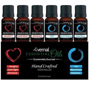 Vernal Essential Oil Set,100% Natural & Pure,Top Spa Essential Oil,Best Essential Oil for Home Diffuser,Essential Oil for aromatherapy,meditation,sleeping and massage