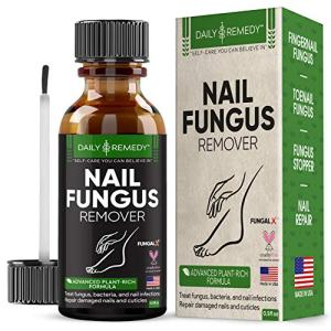 DAILY REMEDY Premium Anti-Fungus Nail Treatment – Antifungal Toe & Toenail Health Care Treatment with Natural Organic Essential Oils - Repairs & Nourishes Damaged Nails & Cuticles – Made in USA