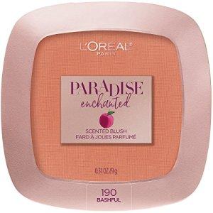 L'Oreal Paris Makeup Paradise Enchanted Scented Blush, Bashful, 0.31 Ounce