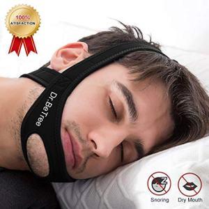 Dr.BeTree Anti Snoring Chin Straps, Ajustable Stop Snoring Solution Snore Reduction Sleep Aids,Anti Snoring Devices Snore Stopper Chin Straps for Men & Women-Black (Black)