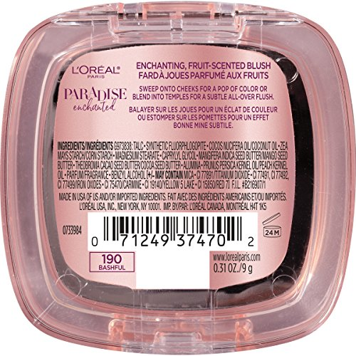 L'Oreal Paris Makeup Paradise Enchanted Scented Blush, Bashful Model: L'Oreal Paris