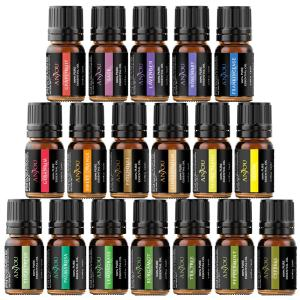Essential Oils, Anjou 18PCS Aromatherapy Oil Upgraded Gift Set Pure & Therapeutic Grade, Popular Fragrance Oils Blends for Diffuser Air Purifier Home Office Auto (Incl.Peppermint Eucalyptus Lavender)