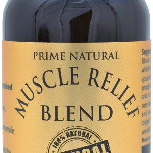 Prime Natural Muscle Relief Essential Oil Blend 30ml - Natural Pure Undiluted Therapeutic Grade for Aromatherapy Massage - Relieves Muscle Pain, Spasms, Stiffness, Backache, Sprained Sore Muscle