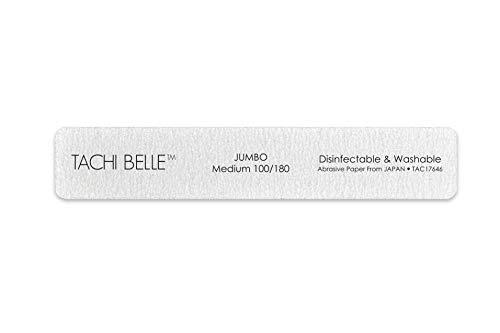 Tachibelle 3 Pcs Premium JAPAN Abrasive Jumbo File 100/180 Medium Tachibelle 3 Pcs Premium JAPAN Abrasive Jumbo File 100/180 Medium Washable Zebra File Nail Art Sanding Nail Files.