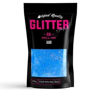 Blue Neon Premium Glitter Multi Purpose Dust Powder 100g / 3.5oz for use with Arts & Crafts Wine Glass Decoration Weddings Cards Flowers Cosmetic Face Body Nails (Packaging May Vary)