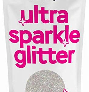 """Hemway Mother of Pearl Ultra Fine/Extra Fine Glitter 100g 3.5oz Cosmetic Safe 1/128"""" .008"""" 0.2mm"""