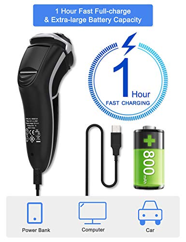 MAX-T Men's Electric Shaver - Corded and Cordless Rechargeable Bundle Dimensions: 6.zero x 2.four x 2.four inches