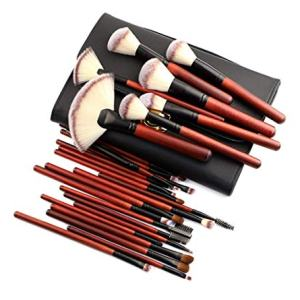 Makeup Brush Set, NEWANOVI 26 Pieces Professional Bamboo Handle Cosmetic Brushes Premium Synthetic for Foundation Blending Blush Concealer Highlighter Eye Shadows Lipstick, Cosmetic Bag Include