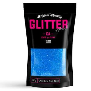Blue Rainbow Premium Glitter Multi Purpose Dust Powder 100g / 3.5oz for use with Arts & Crafts Wine Glass Decoration Weddings Cards Flowers Cosmetic Face Body (Packaging May Vary)