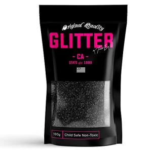 Black Premium Glitter Multi Purpose Dust Powder 100g / 3.5oz for use with Arts & Crafts Wine Glass Decoration Weddings Cards Flowers Cosmetic Face Body (Packaging May Vary)