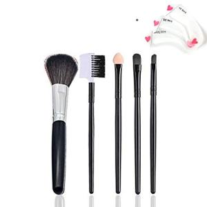 Makeup Brushes Makeup Brush Set Premium Synthetic Foundation Brush Blending Face Powder Blush Concealers Eye Shadows Make Up Brushes Kit+Eyebrow Stencil Card (BLACK)