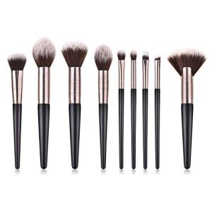 Make Up Brushes,Professional 9Pcs Premium Synthetic Makeup Brushes Cosmetics for Foundation Kabuki Blush Eyeshadow Concealer Brushes set