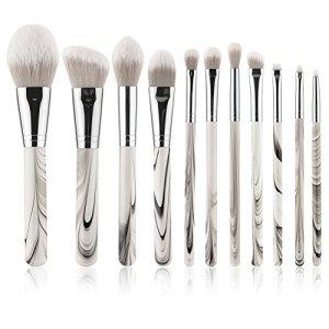 Yoseng 11 Pieces Makeup Brush Set Professional Premium Synthetic Kabuki Foundation Blending Blush Concealer Eye Face Liquid Powder Cream Cosmetics Brushes Kit …