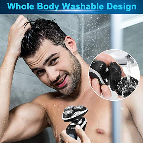 Electric Razor Shaver for Men, 4 in 1 Dry Wet Waterproof men's Rotary Shaver Package deal Dimensions: 1.2 x 1.6 x 2.eight inches