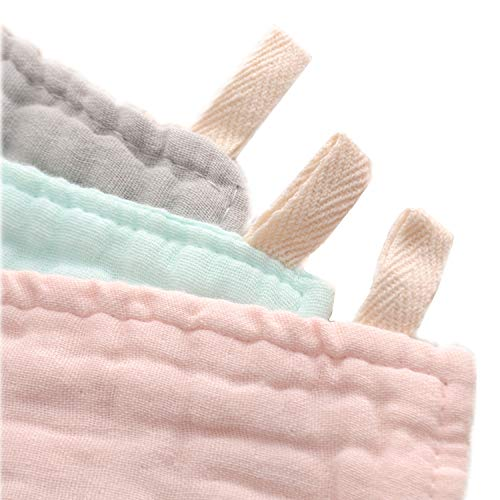 Baby Bath Washcloths by MUKIN - Muslin Face Towels for Newborn Baby Bath Washcloths by MUKIN - Muslin Face Towels for Newborn,Ultra Soft Wash Cloths for Babies | Baby Wipes for Baby Sensitive Skin | Perfect Baby Shower Gift.12''X12'' (Set of 6) Pink.