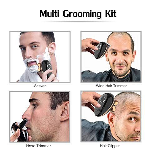 Surker Head Shavers for Bald Men 4d Electric Razor 5 in 1 Nose Beard Trimmer Surker Head Shavers for Bald Men 4d Electric Razor 5 in 1 Nose Beard Trimmer Hair Clipper Shaving Kit Rotary Shaver Cordless USB Rechargeable Facial Grooming Kit Waterproof.