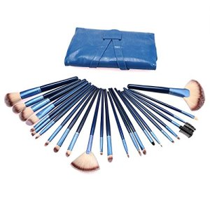 Callica Cosmetic Brushes, 24PCS Professional Premium Cosmetic Makeup Brush Set for Foundation Blending Blush Concealer Eye Shadow, Eyeliner and Daily Makeup (24PCS sapphire blue)