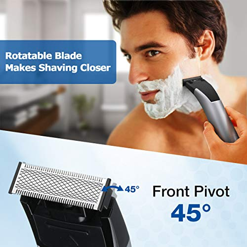 Electric Razor for Men,Hizek Men's Electric Shaver for Face and Body Package deal Dimensions: 3.9 x 3.9 x 3.9 inches