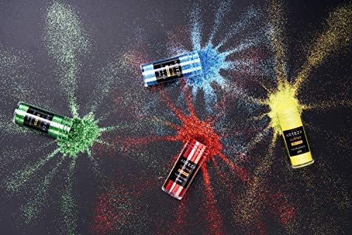 ARTEZA Fine Glitter, Set of 54 Colors, Shaker Jars Glow Under UV Black Light ARTEZA Fine Glitter, Set of 54 Colors, Shaker Jars (0.34oz/9.6 g) Glow Under UV Black Light, Extra Fine, All Purpose for Body, Face, Slime, Crafts.