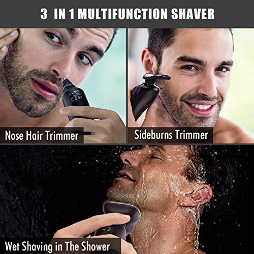 Cordless Electric Shavers Razor for Men, Rechargeable Nose Hair Trimmer Package deal Dimensions: 7.3 x 3.9 x 2.5 inches