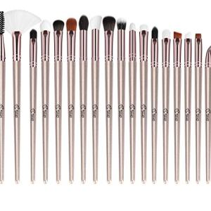 BESTOPE Eye Makeup Brushes Set, 18 Pieces Professional Cosmetic Brushes Includes Eye Shadow Eyebrow Eyelash EyeLiners Brushes Eye Liners Fan Brushes, with Tapered Handles for Women Girls