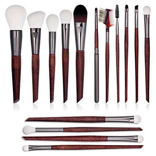 15 PCs-Premium Synthetic Makeup Brushes-Makeup Brushes Set-Kabuki Foundation &Blending & Eyeshadow& Concealer Brush-Best Affordable Makeup Brushes Set-Professional Make up Brushes Kit