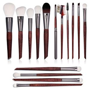 15 PCs-Premium Synthetic Makeup Brushes-Makeup Brushes Set-Kabuki Foundation &Blending & Eyeshadow& Concealer Brush-Best Affordable Makeup Brushes Set-Professional Make up Brushes Kit