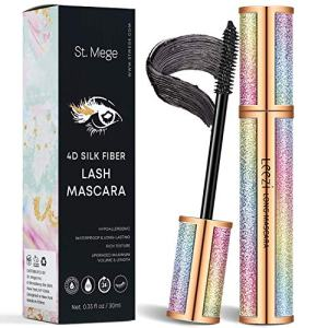 4D Silk Fiber Lash Mascara for Longer, Thicker, Voluminous Eyelashes,Natural Waterproof Smudge-Proof, All Day Exquisitely Lush, Full, Long, Thick, Smudge-Proof Eyelashes by St. Mege