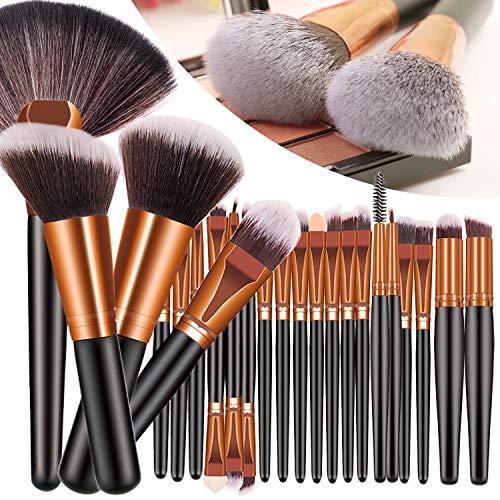 23PCS Premium Makeup Brushes, Fan Foundation Powder Kabuki Brushes, Eye Shadows Make Up Brushes Kit, Premium Synthetic Concealers Brush