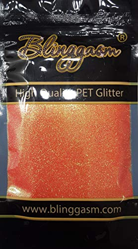 Blinggasm Premium Solvent Resistant Polyester Multi Purpose Glitter 3.5 oz for Crafts Tumblers Wine Glass Decoration Wedding Cards Nails Cosmetic Face Body Paint (Coral)