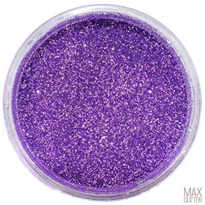 MAX Glitter - Premium Extra Fine Powder Glitter (0.008) | Solvent/UV Resistant Polyester Glitter | for Crafts, Slime, Lure Making and Epoxy | Cosmetic Grade (Violet, 2oz. Jar)