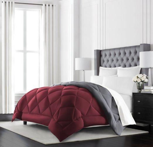 Burgundy Bedspreads and Burgundy Comforter Sets at LuxComfyBedding
