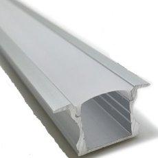 Perfil LED Alumínio Encastrar 25x15mm