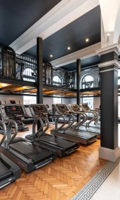 Treadmills at Luxe Fitness gym in Bristol