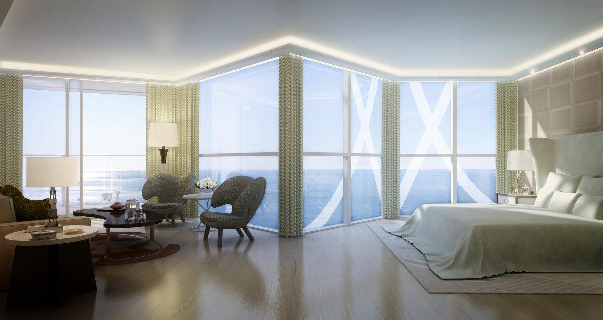 Chambre vue sur mer Tour Odeon Monaco
