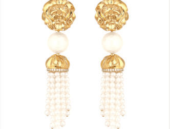 Boucles d'Oreille Lion d'or