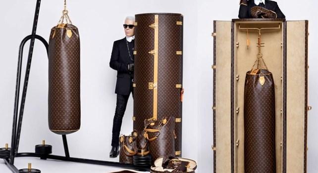 Louis Vuitton : Karl Largerfeld crée un set de boxe pour les 118 ans du Monogramme