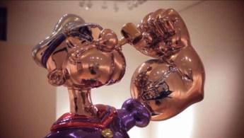 jeff koons l 39 une des sculptures popeye rachet e par l 39 h tel wynn. Black Bedroom Furniture Sets. Home Design Ideas
