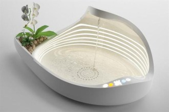 Mother of Pearl Bathtub for Complete Relaxation