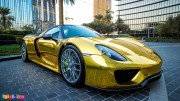 Porsche-918-Gold-Chrome-1